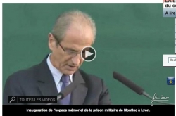Inauguration du Mémorial Montluc par le secrétaire d'Etat aux anciens combattants