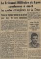 Le compte-rendu des procès des combattants du FLN au TPFA de Lyon par la presse locale