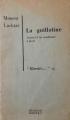 Couverture du livre : Moussa Lachtar, La guillotine, journal d'un condamné à mort