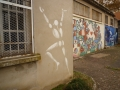 Fresques réalisées par des artistes en résidence à Montluc en 1991