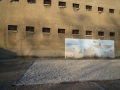 Emplacement marqué au sol de la baraque aux juifs