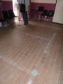 Les traces au sol conservées des anciens parloirs