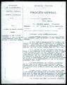 Procès verbal de l'audition de Mme Pothier  en janvier 1946 sur l'arrestation des enfants Abergel en juillet 1944 dans le cadre d'une enquête sur les crimes de guerre